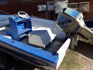 Suzuki boat with motor for sale