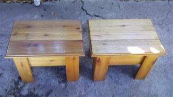 Beautiful Hard Wood Bed Side Tables