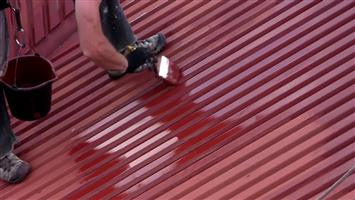 Waterproofing and painting of roofs