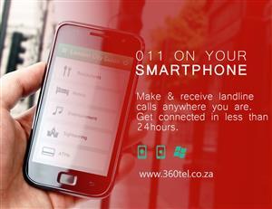 011 landline on your smartphone; Make & Receive 011 landline calls on your smartphone anywhere