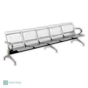 Stainless Steel 1 Seather Airport Seating Bench | Office Stock