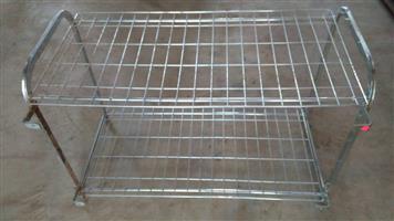2 Tier steel serving rack for sale