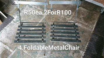 Foldable metal chairs for sale