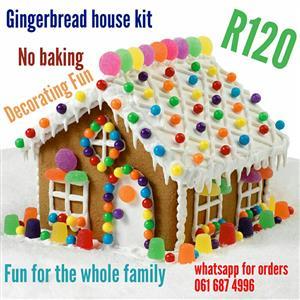 Gingerbread house kit for christmas
