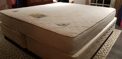 King size extra length bed (mattress & base)