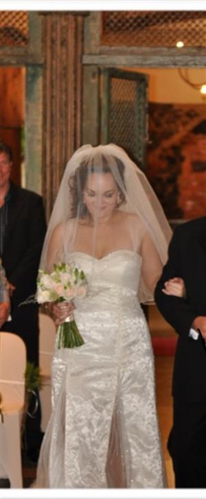 Wedding dress (including Veil) for sale.