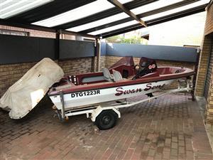 Boat on trailer (No motor)