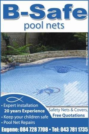 SAFETY POOL NETS, LEAF CATCHERS AND COVERS