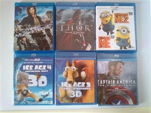3D Blu-ray Movies. R60 each.