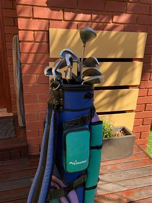 Pin Seeker bag and Player Aces Golf Clubs