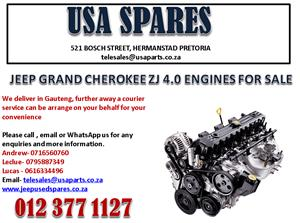 JEEP GRAND CHEROKEE ZJ 4.0 ENGINES AND ENGINE PARTS