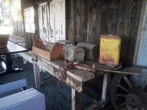 Antique fishing cases