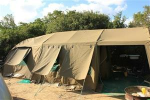 Tentco SNR Deluxe Combo Howard Safari Ripstop canvas tent
