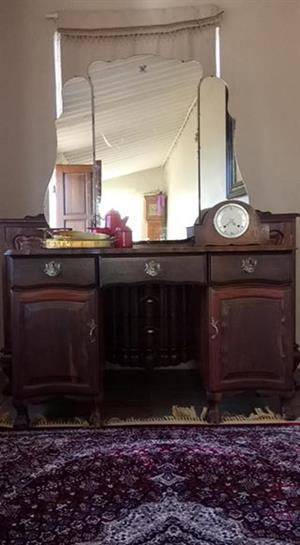 Imbuia Ball and Claw ladies Dressing table