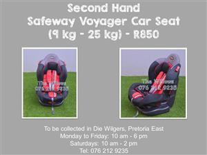 Second Hand Safeway Voyager Car Seat (9 kg - 25 kg) - Grey and Red