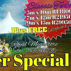 Classic Tents Sale get Free Cellphone with camera features