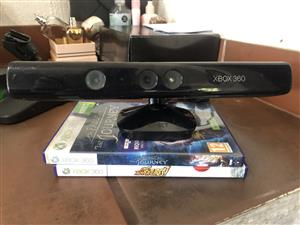 Like New Xbox 360 Kinect Sensor with 2 Original Games Included in Sale...