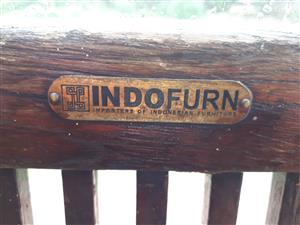 Indofurn rustic table and chairs