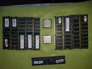 10 x Ram Modules + 2 x Cpu