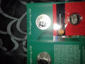 Nelson Mandela coins x 3