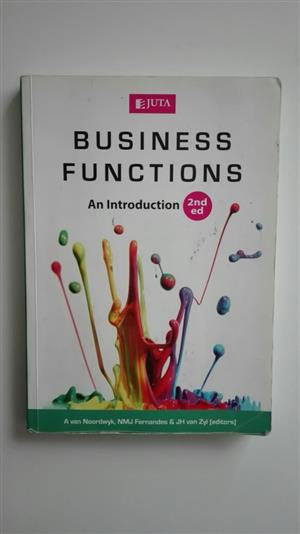 Used, Text Book Business Functions An Introduction for sale  Pretoria - Pretoria East