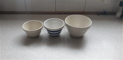 Ceramic Bowls, Price is for all 3