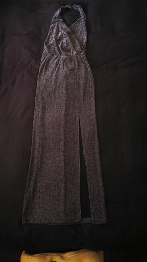 Ladies Evening Dress (Silver and Black)
