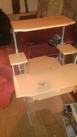 Light wooden computer stand for sale