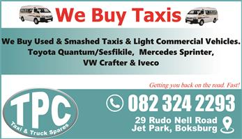 We Buy Used & Smashed Light Commercial Vehicles - Visit TPC
