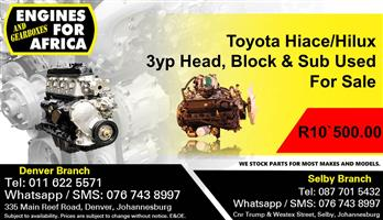 Toyota Hiace/Hilux 3yp Head, Block & Sub Used For Sale