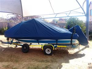 Purpose made covers for boat and motor