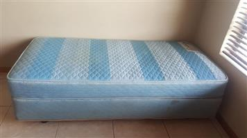 Single bed base and mattress for sale