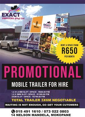 promotional mobile billbord