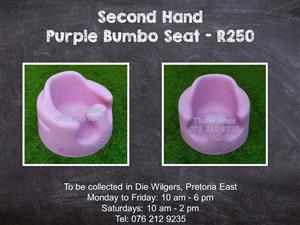 Second Hand Purple Bumbo Seat
