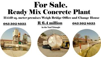 Ready Pre-Mix Concrete plant and property for Sale