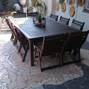 10 seater ironwood patio set