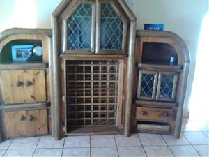 Wine cupboard and sides