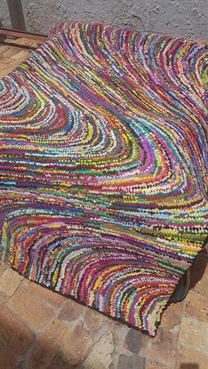 Multi colored rug for sale