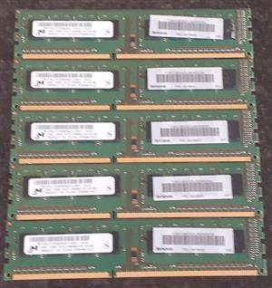 2GB - DDR3 - Desktop Memory - Lenovo & Samsung (10 Available)