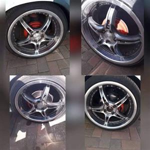 "17""inch raptor chrome lip splits with new tyres"