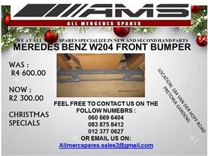 CHRISTMAS SPECIALS !!! MERCEDES BENZ W204 FRONT BUMPER FOR SALE