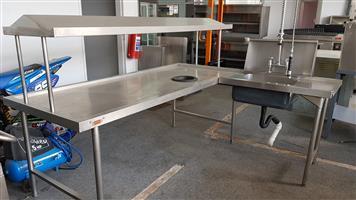 Inlet & sink - Dump tables