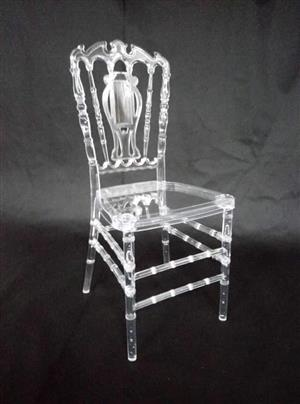 Glass looking see through chair