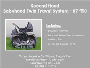 Second Hand Babyhood Twin Travel System