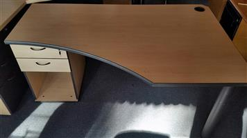 Maple study desk with drawers (8 units in stock)
