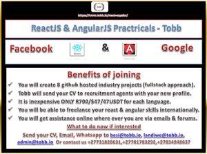 Reactjs and AngularJS practicals