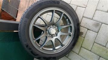 Set of mags and Tyres for sale.