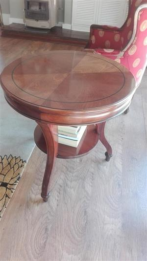 Mini wooden round table for sale