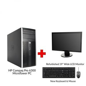 Refurbished HP Compaq Pro 6300 Core i5 Gen 3 MicroTower PC