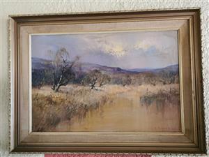 C Tugnell painting 68 cm x 95 cm